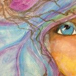 Watercolour; face; adult; class; art