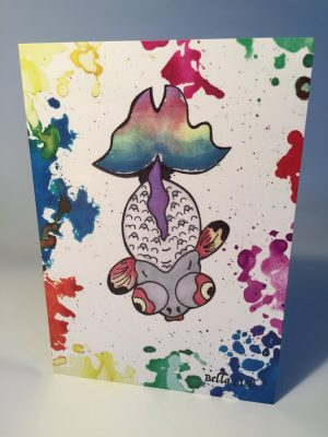 Fish Greeting Card - By Bella (includes envelope)
