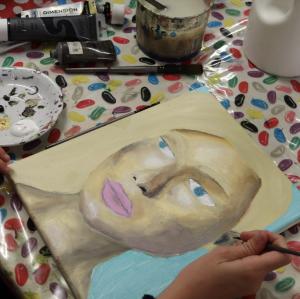 acrylic face workshop