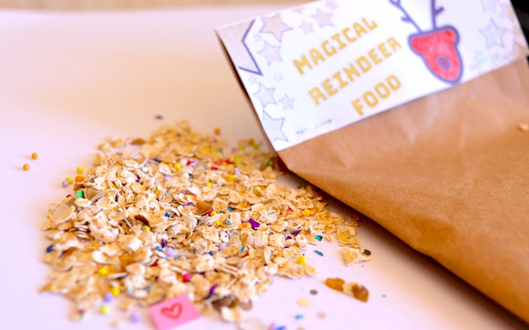 Eco-friendly reindeer food activity for Christmas!
