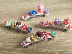 polymer clay hair clip